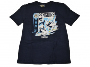 Pittsburgh Penguins Navy Hockey Skates Soft Cotton Short Sleeve T-Shirt
