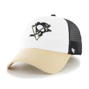 Pittsburgh Penguins Tri-Tone Privateer Closer Mesh Flexfit Hat Cap