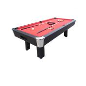 2.4m Red Billiard Table