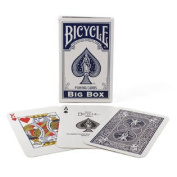 Bicycle Big Box Blue Playing Cards - 11cm Wide x 18cm Tall Jumbo Deck