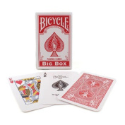 Bicycle Big Box Red Playing Cards - 11cm Wide x 18cm Tall Jumbo Deck