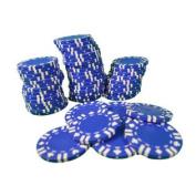 Poker Chips Lot of 50 Blue With Card Suit Las Vegas Casino 11.5g Heavy Duty
