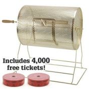 Medium Brass Raffle Drum w/ 4000Free Tickets by Midway Monsters