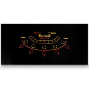 Brybelly Black Baccarat Casino Table Felt Layout