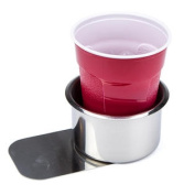 Brybelly Jumbo Stainless Steel Slide Under Cup Holder