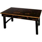 Oriental Tea Table w Foldable Legs