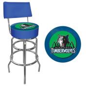NBA Minnesota Timberwolves Padded Swivel Bar Stool with Back