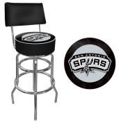 NBA San Antonio Spurs Padded Swivel Bar Stool with Back