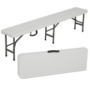 1.8m Folding Portable Plastic Indoor / Outdoor Picnic Party Dining Bench