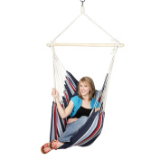 Blue Sky Hammocks Hanging Chair with Two Cushions and FREE Hammock Straps