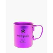 Snow Peak Titanium Double Wall 450 Mug, Coral Reef Purple