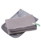 Quick-drying Antibacterial Outdoors Camping & Hiking Towel With Buggy Bag, Grey