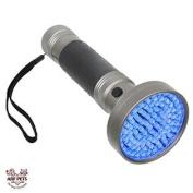 Black Light UV Flashlight 100 LED Blacklight Premium Handheld Ultraviolet Pet Dog and Cat Urine Stain Finder Detects Hum