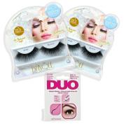 Blinque False Eyelashes 2Pairs Plus DUO eyelashes Black