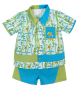Stephan Baby Go Fish Fishie Print Bowling Shirt and Nappy Cover, 3-6 Months