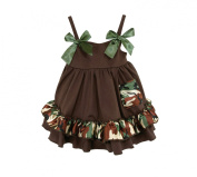 Stephan Baby Ruffled Swing Top and Nappy Cover, Camo Print, 12-18 Months