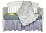 Lavender Poppy Floral 4 Piece Crib Bedding Set by Balboa Baby
