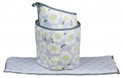 Lavender Poppy Baby Crib Bumper by Balboa Baby