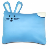 Toddler PILLOW CASE - 100% Cotton, Hypoallergenic and Machine washable - Fits 33cm x 46cm and 36cm x 48cm Toddler Pillows - Premium quality kids bedding - Blue