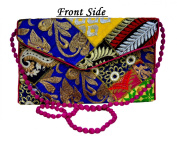 Eco-friendly Thread Embroidered Patchwork Bag . Clutch Purse