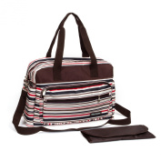 Nappy Bag for Moms,Red Stirpe