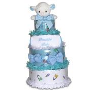 Beautiful Baby Boy 4-tiered Nappy Cake