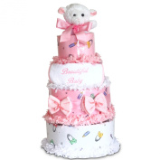 Beautiful Baby Girl 4-tiered Nappy Cake