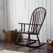 Belham Living Windsor Indoor Wood Rocking Chair, Durable and Strong, Espresso Finished