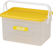 Izumikasei Japanese-made colourful skip container L type yellow 9243Y