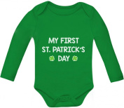 My First St. Patrick's Day - Cute Bodysuit Irish Clover Baby Long Sleeve Onesie
