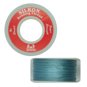 Silkon Bead Stringing Cord Size #2 Turquoise Aqua Blue - 20 yard spool. Made in Switzerland