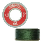 Silkon Bead Stringing Cord Size #3 Jade Green - 20 yard spool. Made in Switzerland