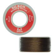 Silkon Bead Stringing Cord Size #3 Tiger Eye Brown - 20 yard spool. Made in Switzerland