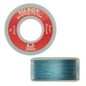 Silkon Bead Stringing Cord Size #3 Turquoise Aqua Blue - 20 yard spool. Made in Switzerland