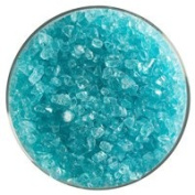 Fuse It! 0.5kg Bullseye Coarse Transparent Frit - 90 Coe - Aqua Blue By Stallings Stained Glass