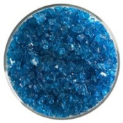 Fuse It! 0.5kg Bullseye Coarse Transparent Frit - 90 Coe -Turquoise Blue By Stallings Stained Glass