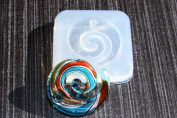 Clear silicone pendants Moulds, pendants 50mmX45mm. Handmade item.