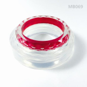 Alamould Moulds Clear Silicone Mould for Creating a Kids/Petite (7-15 yr) Patterned Bangle/Bracelet