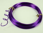 PURPLE Aluminium Wire Crafting, Floral or Jewellery Making embellishments 10 YDS