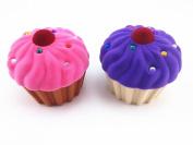 Yueton Pack of 2 Velvet Rhinestone Lovely Storage Box Candy Jewellery Gift Organiser Pill Case Container