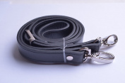 Wento 1pcs 110cm - 120cm Pu Black Leather Adjustable Bag Strap,soft Leather Shoulder Straps,replacement Cross Body Purse Straps,handbag Bag Wallet Straps