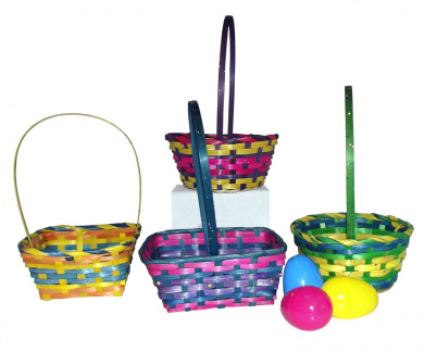 29cm Springtime Easter Small Woven Basket Assortment-Includes 1; styles vary
