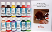 Duncan OSKIT-3 Acrylic Paint Set, 12 Best Selling Colours in 60ml Bottles with Free How To Paint Ceramics Book