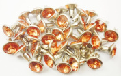 40Set 8mm Orange Synthetic Crystal RIVETS Rhinestone RV6108