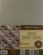 Recollections Architecture Cardstock Paper, 22cm X 28cm - 50 Sheets, 5 Colours