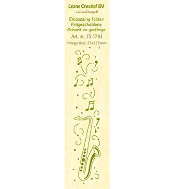 Joy Craft Border Saxophone Embossing Folder, 2.5cm x 15cm