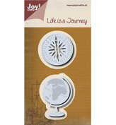 Joy Craft Cutting and Embossing Dies-Globe/Compass