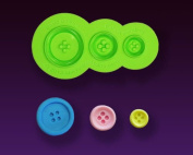 Basic Buttons Silicone Mould by Marvellous Moulds