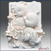 Happy Easter - Detail of High Relief Sculpture - Silicone Soap/polymer/clay/cold Porcelain Mould