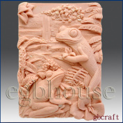 Tree Frogs - Detail of High Relief Sculpture - Silicone Soap/polymer/clay/cold Porcelain Mould